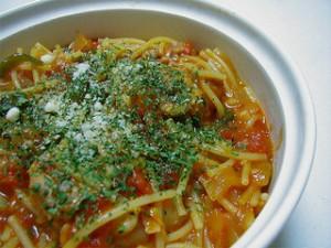 ミネストローネ風トマトスープパスタ