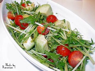 アボガドと水菜のサラダ