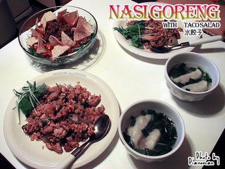 ナシゴレン&TACOサラダ&水餃子
