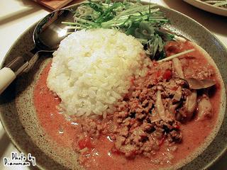 挽肉とトマトのレッドカレー