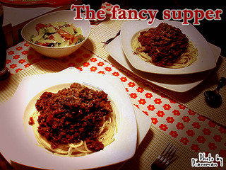 The fancy supper♪